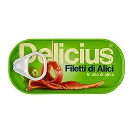 FILETTI DI ALICI DELICIUS IN OLIO DI OLIVA GRAMMI 46